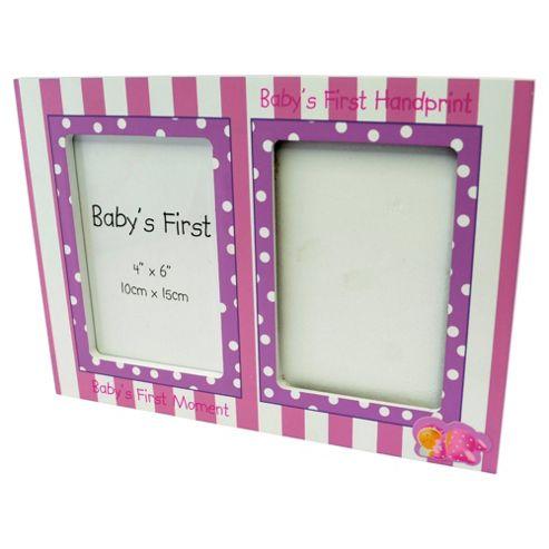 Baby Girls First Hand Print & Frame set