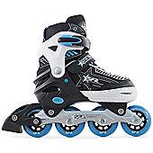 SFR Kids' Inline Skates - Pulsar Adjustable Pink - Medium (Junior UK 12 - UK 2) - Blue