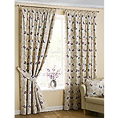 Papillon Pencil Pleat Curtains, Mauve 117x137cm