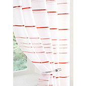 Ribbon Voile Curtain Panel - Red