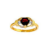 QP Jewellers Diamond & Garnet Halo Heart Ring in 14K Gold