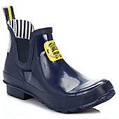 Joules Womens French Navy Short Wellington Boots - Blue