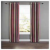 Whitworth Lined Eyelet Curtains - Claret