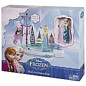 Disney Frozen Ice Skating Rink And Elsa Doll