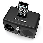 Revo DOMINO-D1-BLACK DAB/FM Radio with iPod Dock - Black