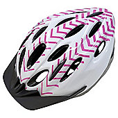 Fusion,Adult Bike Helmet, Pink & White,54-58cm