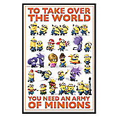 Gloss Black Framed Despicable Me 2 An Army of Minions Poster