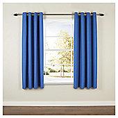 Blackout Eyelet Curtains W167xL183cm (66x72''), Blue