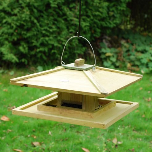 Hanging bird table