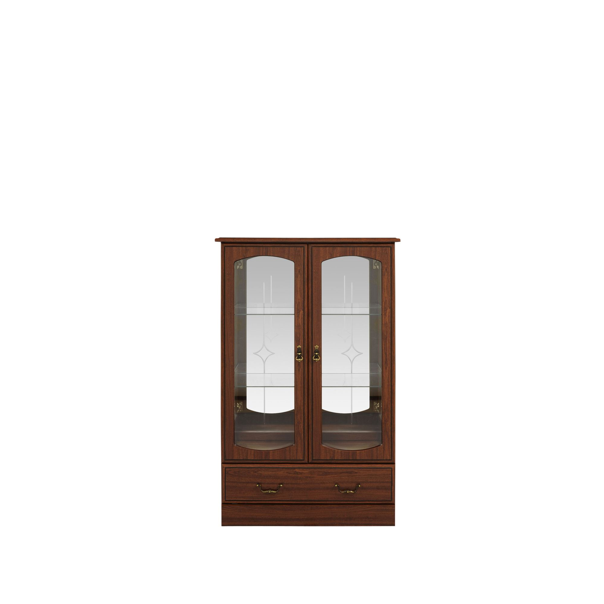 Caxton Byron Low Display Cabinet in Mahogany at Tesco Direct