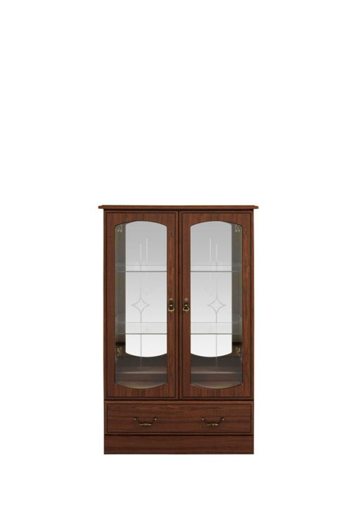 Caxton Byron Low Display Cabinet in Mahogany