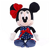 "Disney I Love Minnie Mouse in Navy Tea Dress 10"" Soft Toy"
