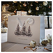 Large Woodland Trees Christmas Gift Bag