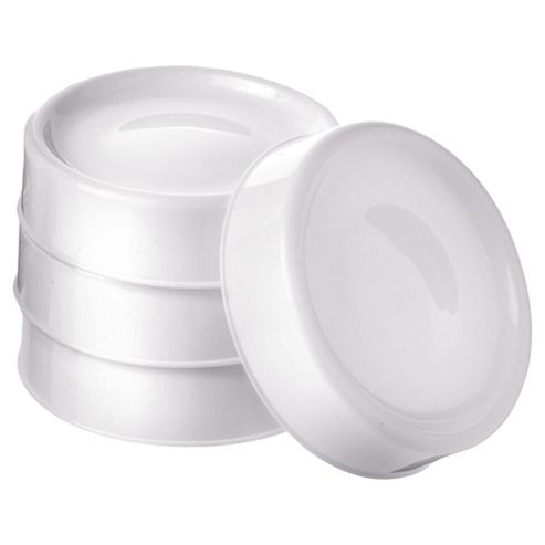 Tommee Tippee Closer To Nature Milk Store Lids x4