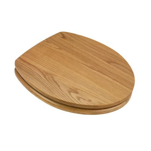 Croydex Kingston Toilet Seat Light Wood