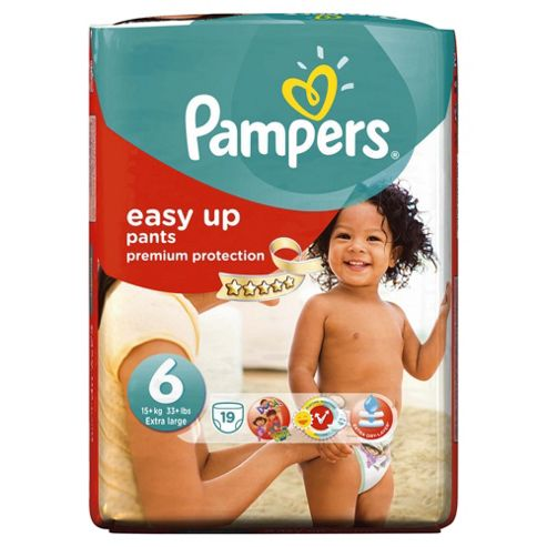 Pampers Easy Ups Size 6 Essential Pack - 19 nappies