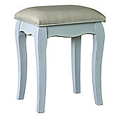 Scallop Edge Upholstered Stool
