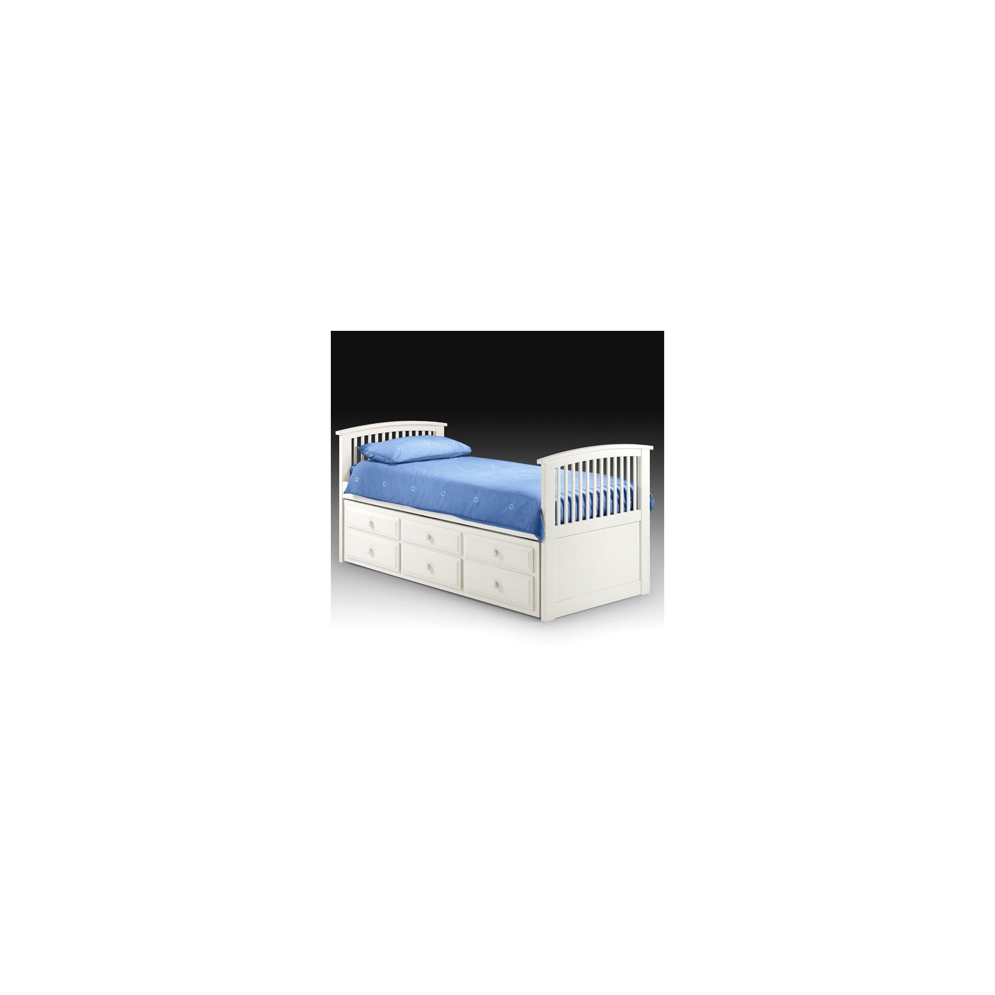 Julian Bowen Hornblower Captain's Bed Frame - Stone White at Tescos Direct