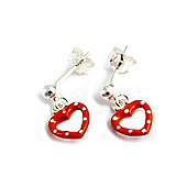 Little Angels Polka Dot Heart Drop Earrings