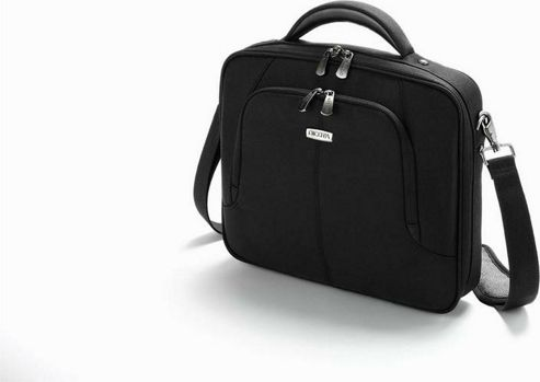 Dicota MultiSquare Shoulder Bag (Black) for 13 inch - 14.1 inch Notebook and Further Mobile Computing Equipment