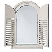 Fallen Fruits Shuttered Mirror (White)
