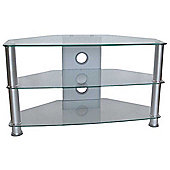 MMT Jet Clear Glass Universal TV Stand for TVs up to 37 inch
