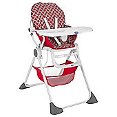 Chicco Pocket Lunch Highchair, Red Wave