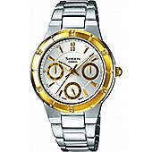 Casio Sheen Ladies Stainless Steel Day & Date Watch SHE-3800SG-7AEF