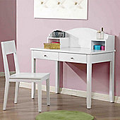 Hickory Dressing & Writing Table - White