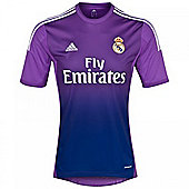 2013-14 Real Madrid Adidas Home Goalkeeper Shirt - Purple