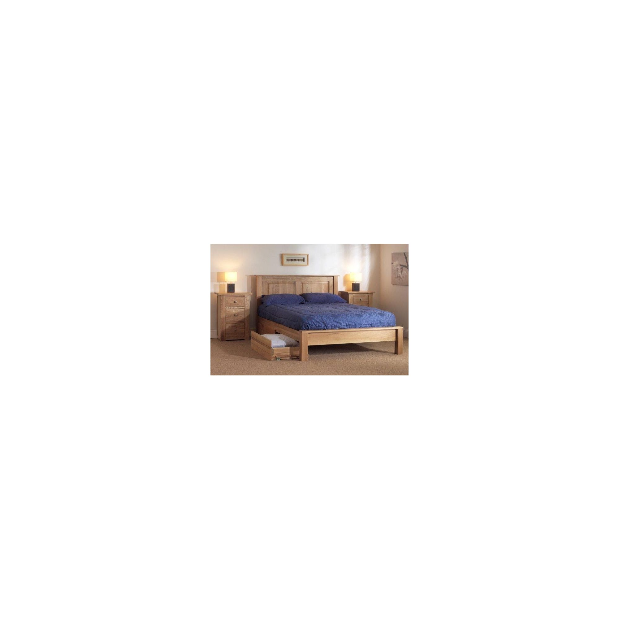 Sleepy Valley Oakham Bed - 2 Underbed Drawers/ Oak - Double at Tesco Direct