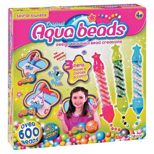 Aqua Beads Spiral Twists