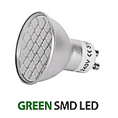 MiniSun 5W 27 SMD LED GU10 Light Bulb Green