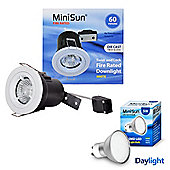Pack of 10 MiniSun Die Cast Twist & Lock 5W Daylight LED GU10 Fire Rated Downlights, White