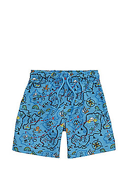 F&F Treasure Map Swim Shorts - Blue