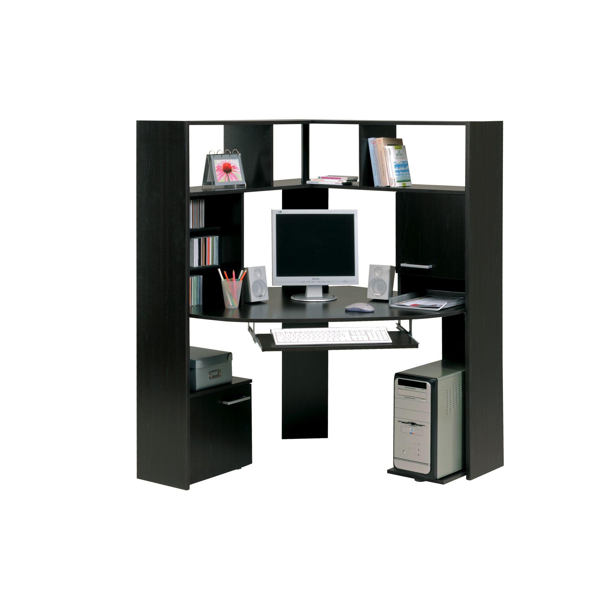 Parisot Hubble Corner Computer Desk in Wenge at Tescos Direct