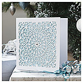 Tesco Luxury Laser Cut Snowflake Christmas Cards, 6 Pack