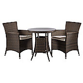 Savannah 2 Seat Round Dining Table and Chairs Rattan Garden Furniture Set