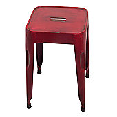 Ian Snow Retro Stool - Red