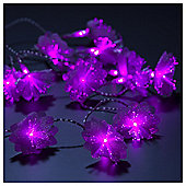 Tesco Lights 20 Pink Flowers, Battery Operated
