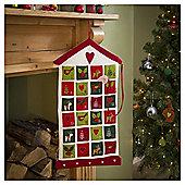 Fabric House Advent Calendar, 60cm