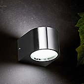Faro Ion-2 Two Light Outdoor Wall Lamp in Nickel Matte
