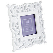 "Tesco Decorative  Baroque Frame 3""X3"" White"