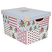 Pink Floral Storage Box