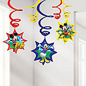 Mickey Mouse Party Hanging Swirls - 61cm (6pk)