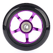 Metaillic Purple Stunt Scooter 5 Spoke Abec 9 Wheel