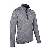 Mens Hamptons Fleece Walking Hiking Quick Drying Jumper Sweater Top - Grey