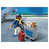 Playmobil Flight Attendant with Service Cart