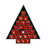 Premier Tree Shaped Wooden Advent Calendar