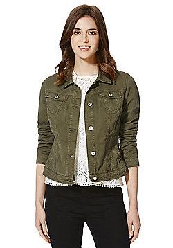 F&F Khaki Wash Denim Jacket - Khaki